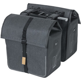 Basil Urban Dry Double Pannier Bag 50l, with MIK System, charcoal melee